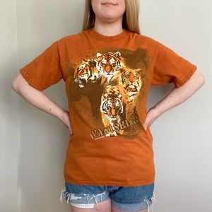 Hanes Beefy Vintage Vanishing Tigers Graphic Tee